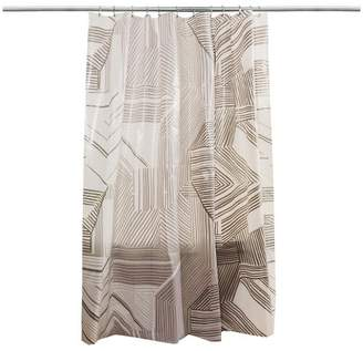 Room Essentials Broken Lines Shower Curtain Gray