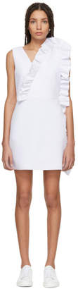 MSGM White Ruffles Dress