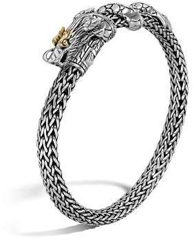 John Hardy Sterling Silver & 18K Gold Naga Dragon Bracelet