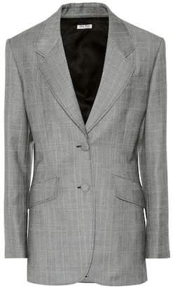 Miu Miu Houndstooth wool blazer