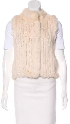 Haute Hippie Knit Fur Vest