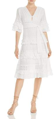 Aqua Ruffle-Trim Midi Dress - 100% Exclusive