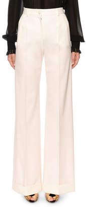Dolce & Gabbana Cuffed Wide-Leg Pants