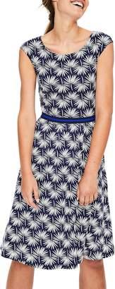 Boden Grosgrain Ribbon Waist Print Dress