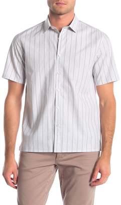 Theory Murray Lenny Striped Short Sleeve Shirt