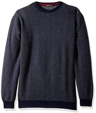 Bugatchi Men's Extra Fine Merino Wool Crew Neck Sweater