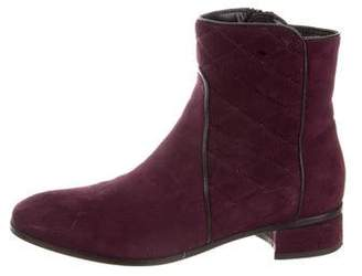 Aquatalia Suede Quilted Ankle Boots