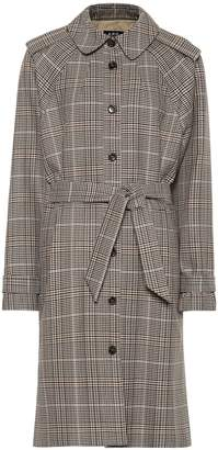 A.P.C. Ava checked cotton trench coat