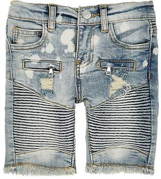 Haus of JR Distressed Denim Shorts $52 thestylecure.com