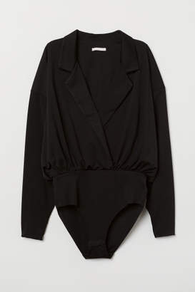 H&M Long-sleeved Bodysuit - Black