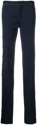 RED Valentino contrast stitch slim fit trousers