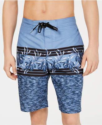 """Calvin Klein Men Hibiscus Geo Print 10"""" E-Board Swim Trunks"""