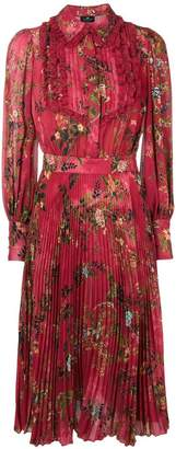Elisabetta Franchi floral pleated midi dress