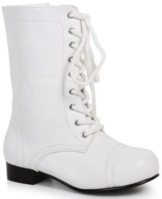 Ellie Children's White Ankle Combat Boot