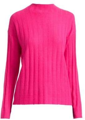 Saks Fifth Avenue COLLECTION Cashmere Ribbed Funnelneck Sweater