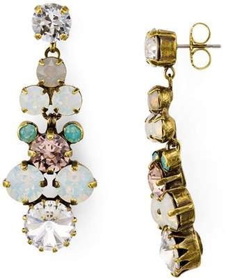 Sorrelli Crystal Cluster Linear Drop Earrings