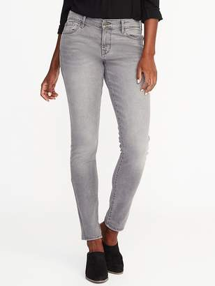 Old Navy Mid-Rise Curvy Skinny Gray Jeans for Women