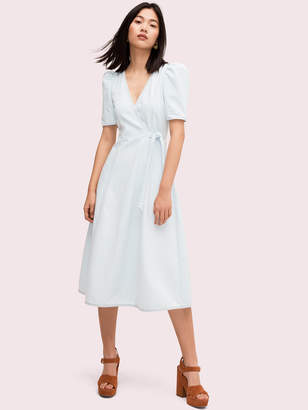 Kate Spade denim wrap dress