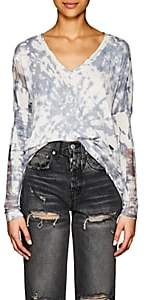 NSF Women's Teddy Distressed Tie-Dyed Cotton Sweater - Gray