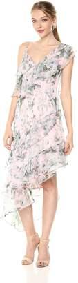 Keepsake The Label Women's Sweet Love Asymmetrical Ruffle Midi Dress