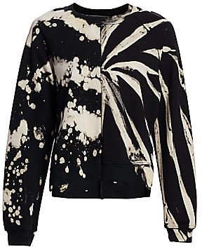 Proenza Schouler White Label Women's Tie-Dye Crewneck Sweatshirt