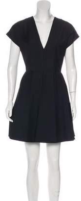 Christian Dior Wool & Mohair-Blend Mini Dress