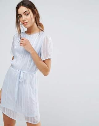 Pieces Elja Sheer Tie Waist Dress