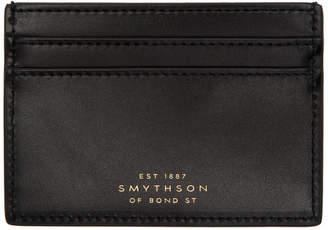 Smythson ブラック Wigmore カード ホルダー