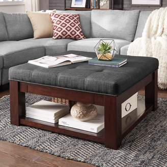 Homevance HomeVance Tufted Upholstered Storage Coffee Table