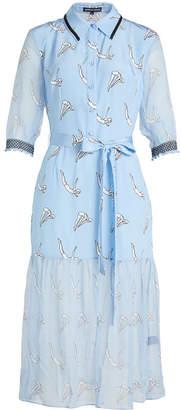 Markus Lupfer Diver Micki Printed Silk Dress