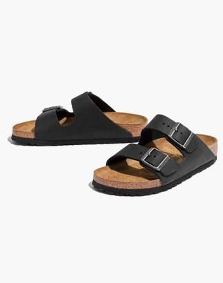 Madewell Birkenstock Arizona Sandals in Black Leather