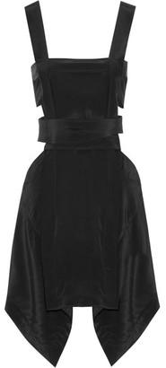 Isabel Marant - Oury Cutout Silk Crepe De Chine Mini Dress - Black $760 thestylecure.com