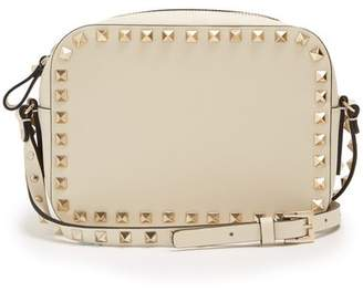 Valentino Rockstud Camera Leather Cross Body Bag - Womens - Ivory