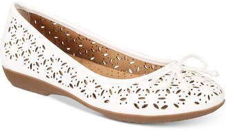 White Mountain Cliffs by Cate Perforated Flats Women's Shoes