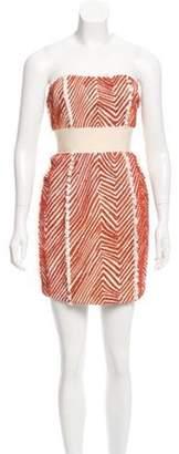 Adam Silk Embellished Dress w/ Tags Orange Silk Embellished Dress w/ Tags