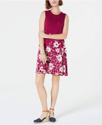 Style&Co. Style & Co Petite Printed Trapeze Dress