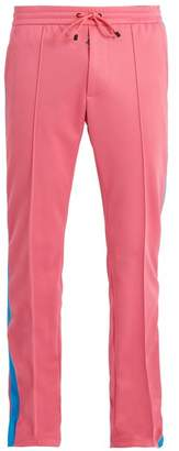 Valentino Side Stripe Straight Leg Jersey Track Pants - Mens - Pink