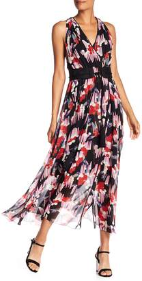 Marc Jacobs Printed Belted Silk Wrap Maxi Dress