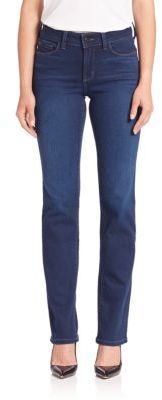 NYDJ Faded Straight Leg Jeans $134 thestylecure.com