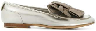 AGL bow embellished loafers