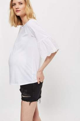 Topshop **Maternity LL Rip Mom Shorts