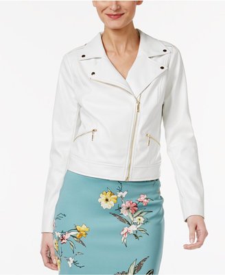 Thalia Sodi Faux-Leather Moto Jacket, Only at Macy's $89.50 thestylecure.com