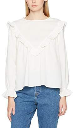ENGLISH FACTORY Women's Ruffle Long Sleeve Top,6 (Size: X-Small)