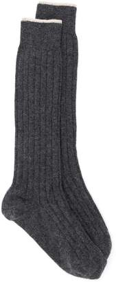 Brunello Cucinelli ribbed socks