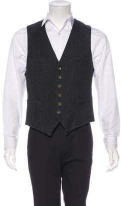 Rag & Bone Herringbone Wool Suit Vest