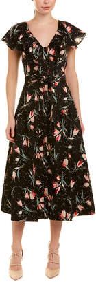 Rebecca Taylor Tie-Waist Maxi Dress