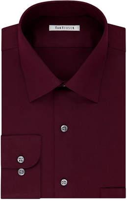 Van Heusen No-Iron Lux Sateen Dress Long Sleeve Shirt