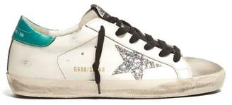 Golden Goose Super Star Low Top Leather Trainers - Womens - Green White