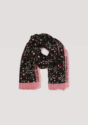 Emporio Armani Voile Scarf With Loading Pattern