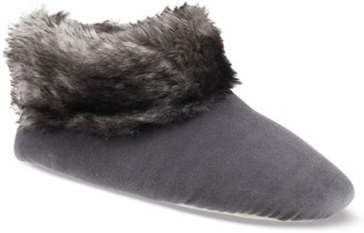 Isotoner Women's Sabrine Velour Stretch Boot Slippers